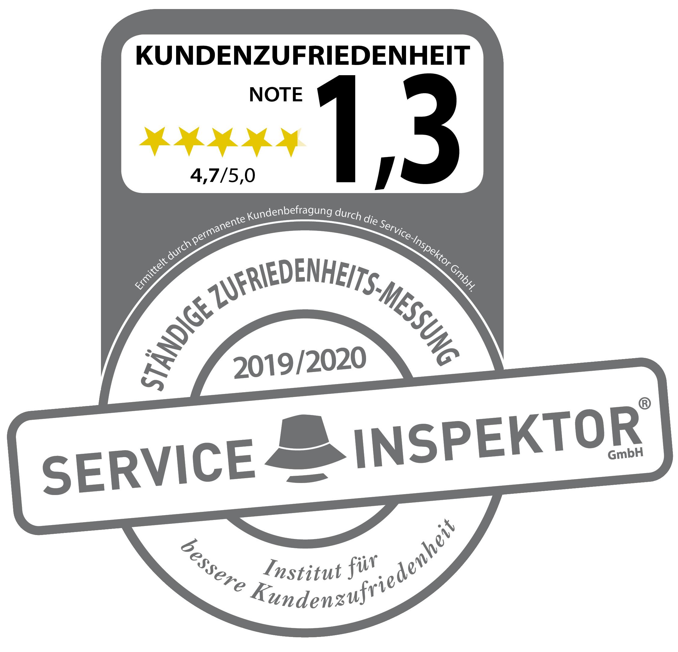 Zertifikat zur Kundenzufriedenheit